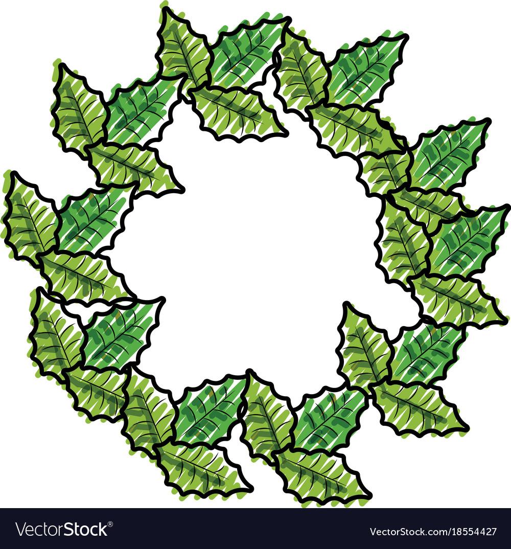Christmas wreaths Royalty Free Vector Image - VectorStock