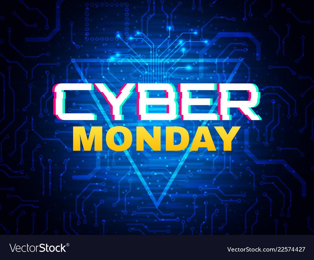 Cyber monday concept advertisement banner online