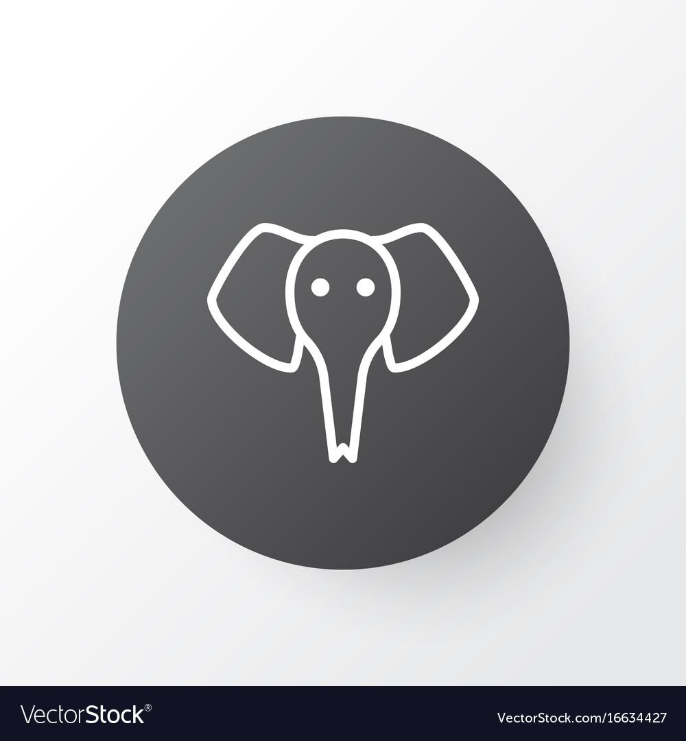 Elephant icon symbol premium quality isolated