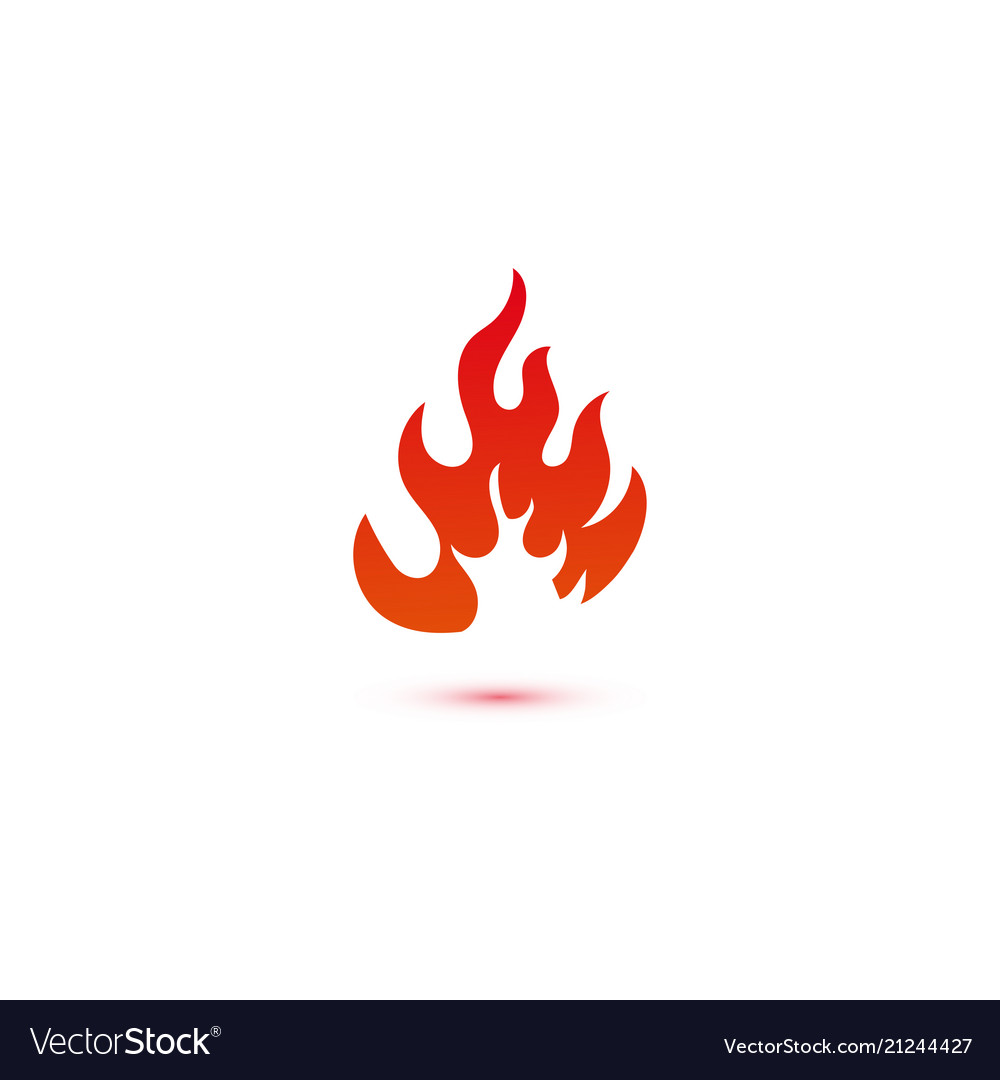 Fire and flames logo graphic template vector image on VectorStock