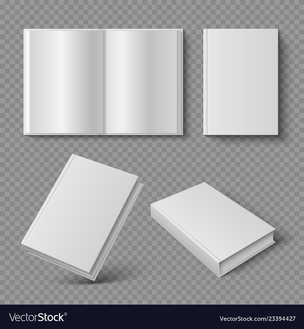 Realistic Book Cover Blank Brochure Cover Mockup