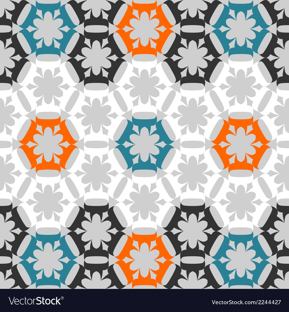 Seamless stylized floral pattern vector image