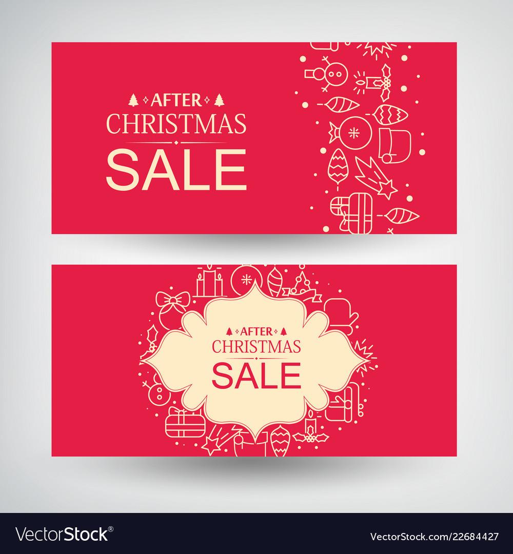 Set of two christmas sale banners