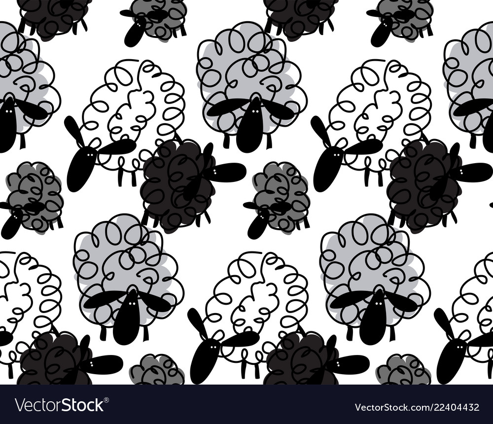 Animals for kids funny sheep background