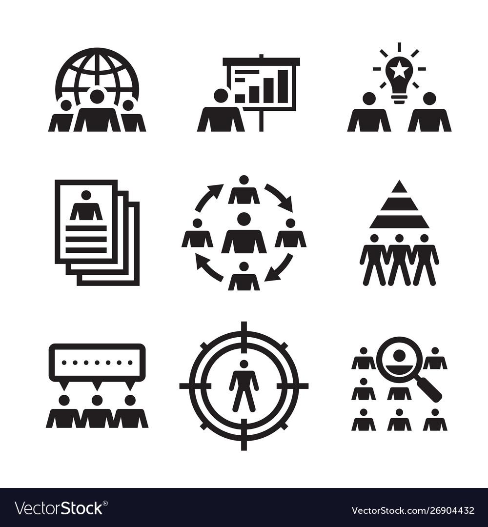 Business people - icons set teamwork