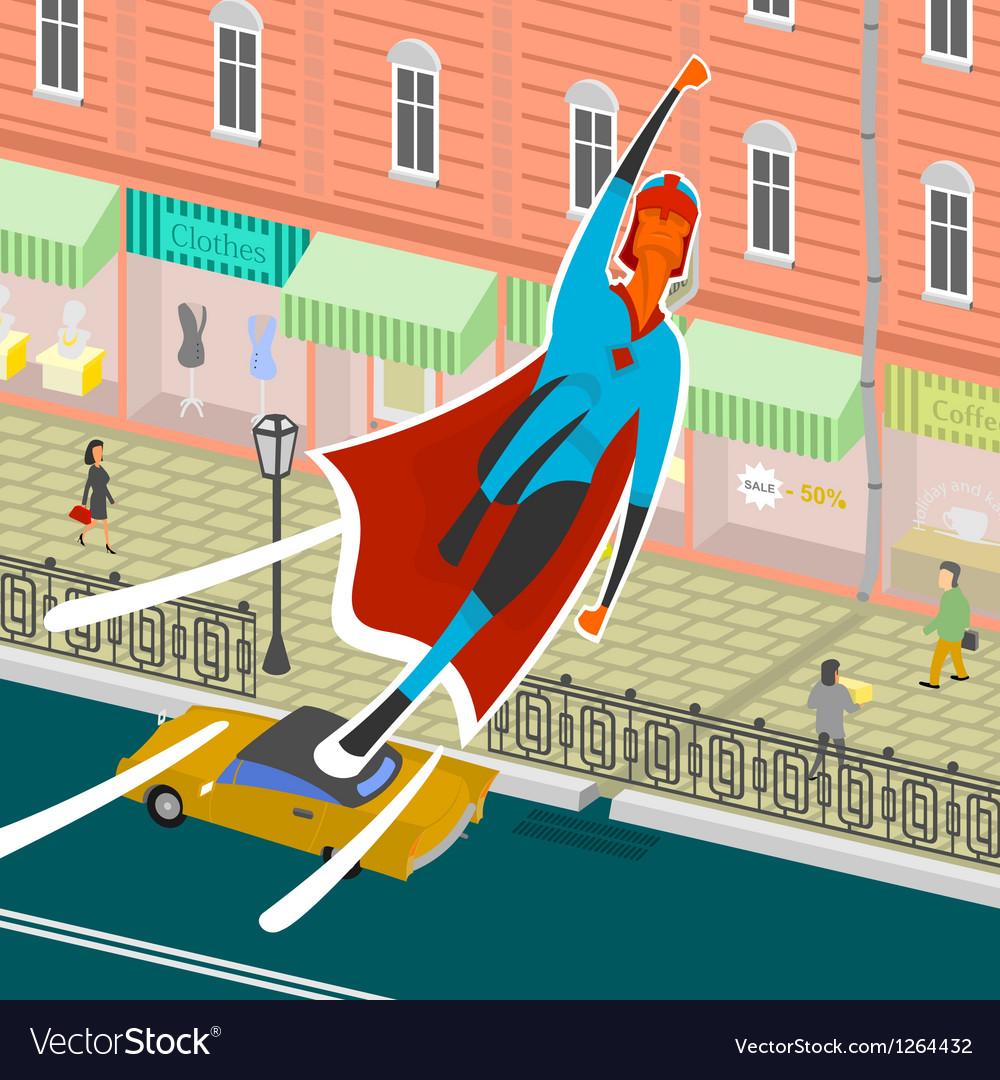 Flight superhero vector image