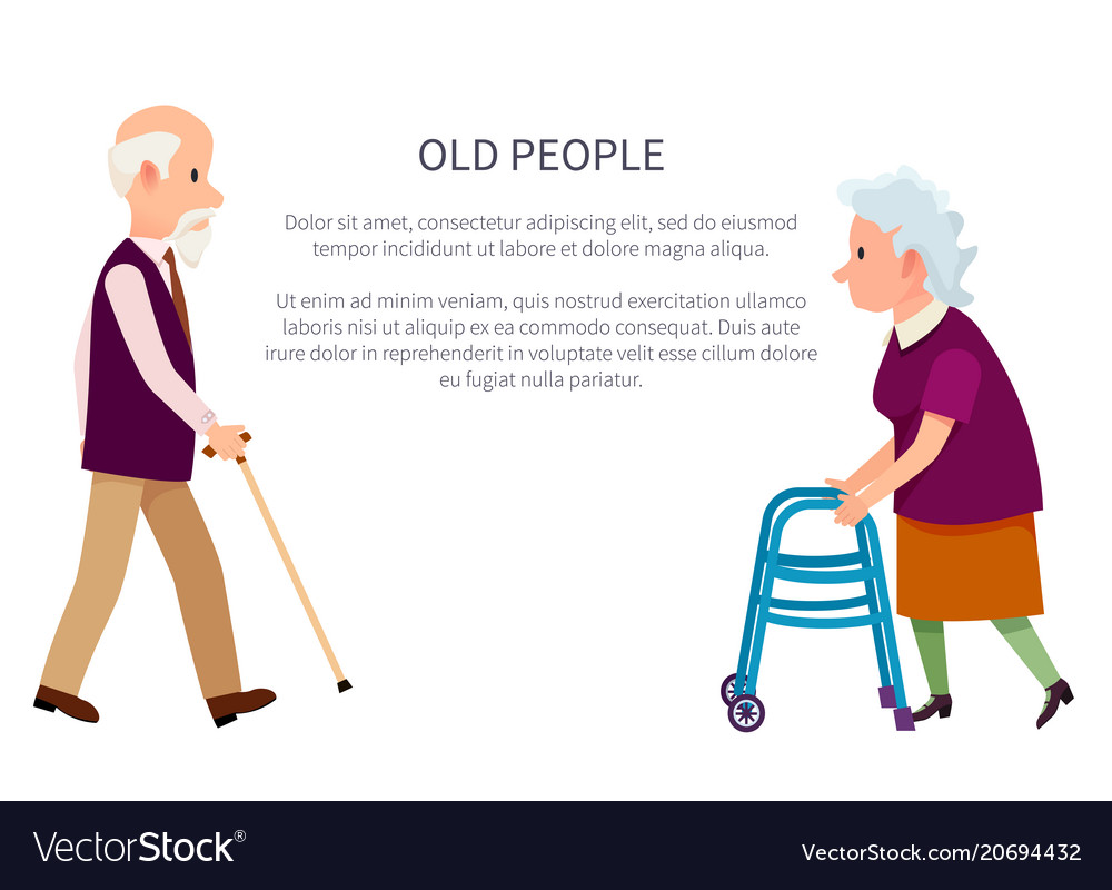 Grandparents banner grandpa and grandma isolated vector image
