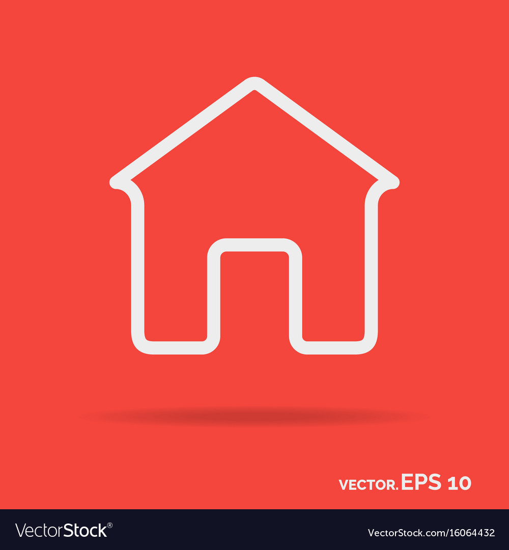 House outline icon white color