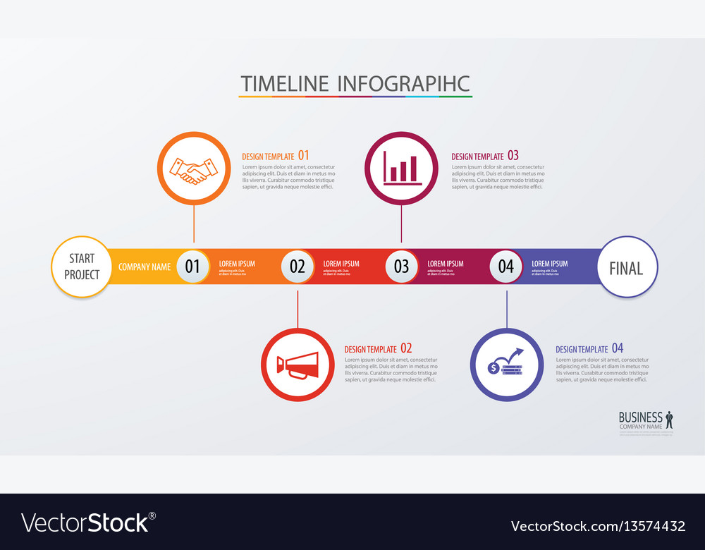 Infographic timeline template business concept
