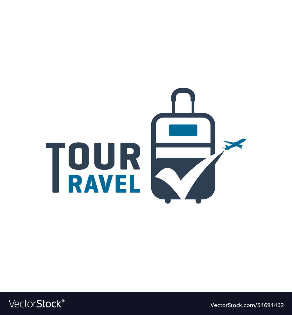 Modern holiday travel agency logo