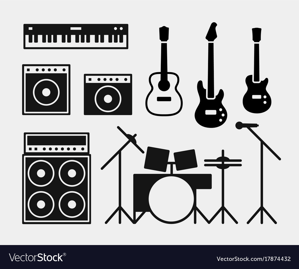 Music rock band instruments set