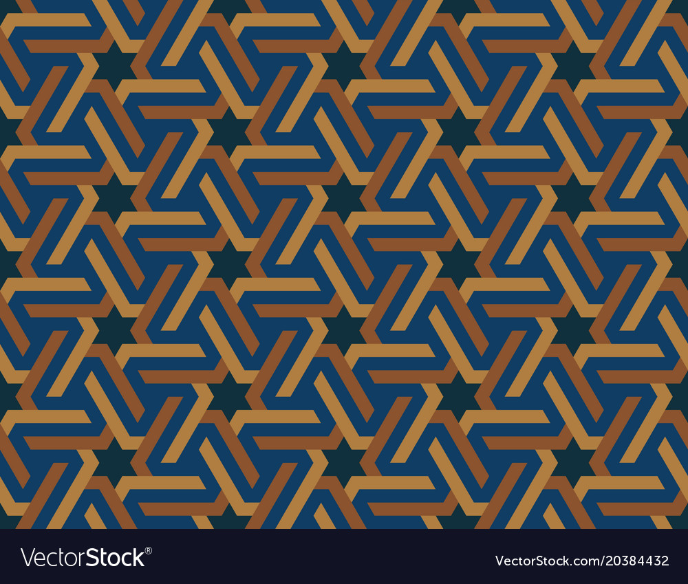 Seamless geometric islamic ornament with stars