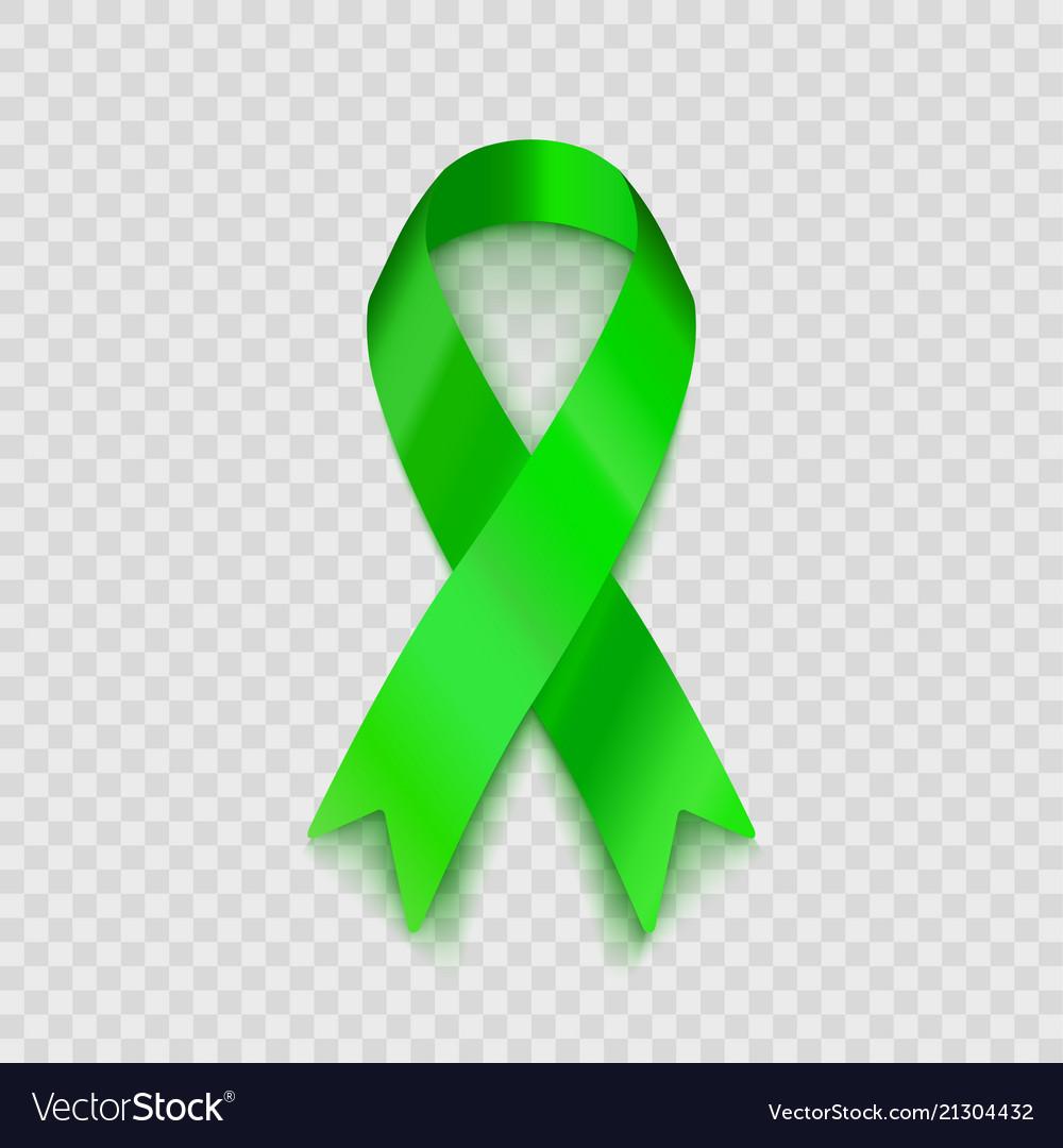 Stock Lime Green Ribbon Vector Image