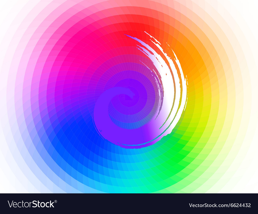 Twisted brush vector image