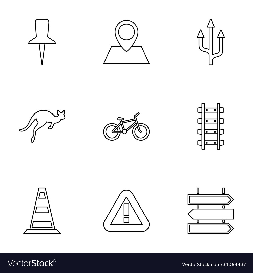 9 road icons