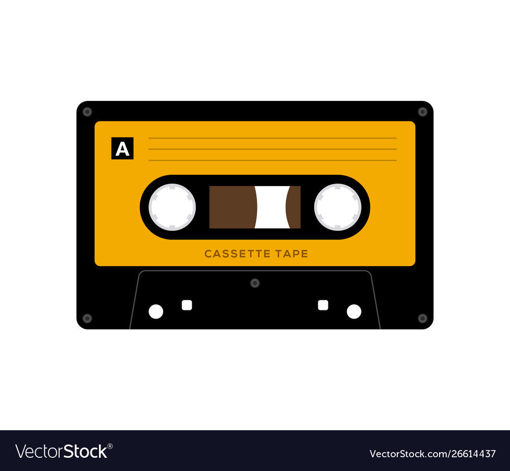 Audio cassette tape isolated old music