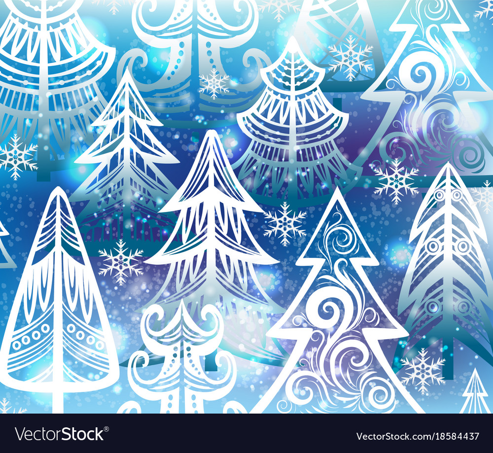 Background with winter trees