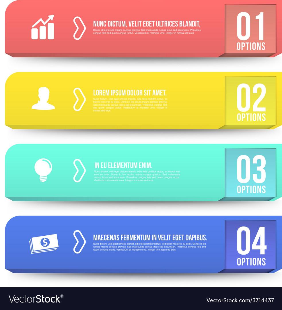 Banner options 3D digital Infographic