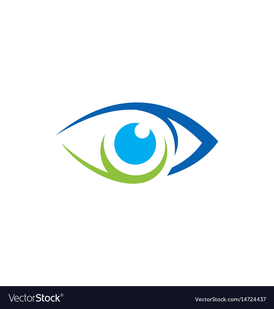 Eye vision icon logo