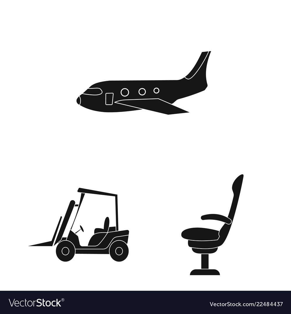 Isolated object airport and airplane icon