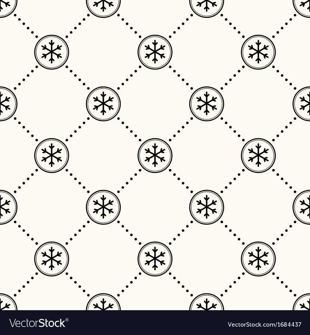 Seamless winter retro pattern