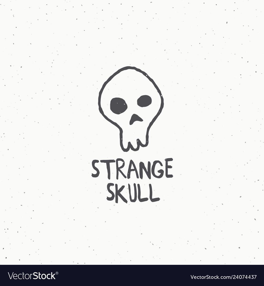Strange skull abstract sign symbol or logo