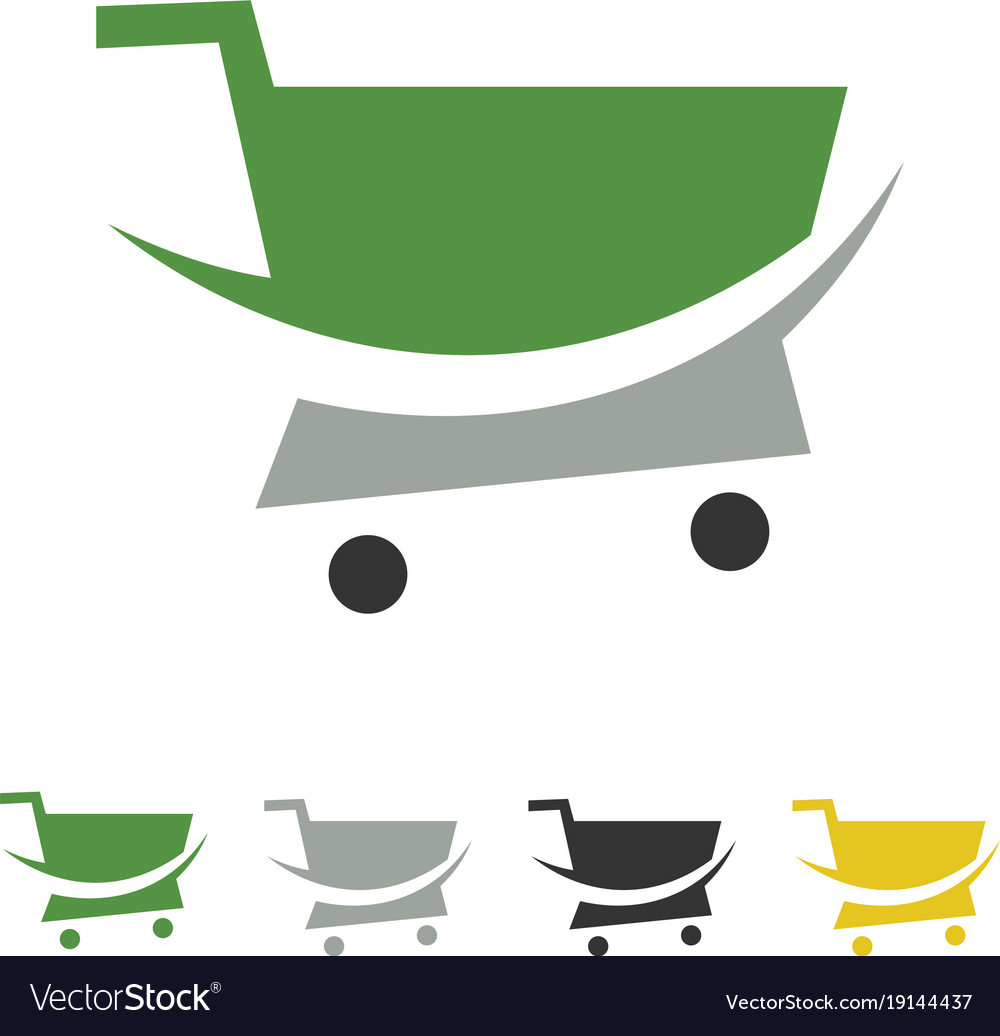 Trolley shop logo vector image