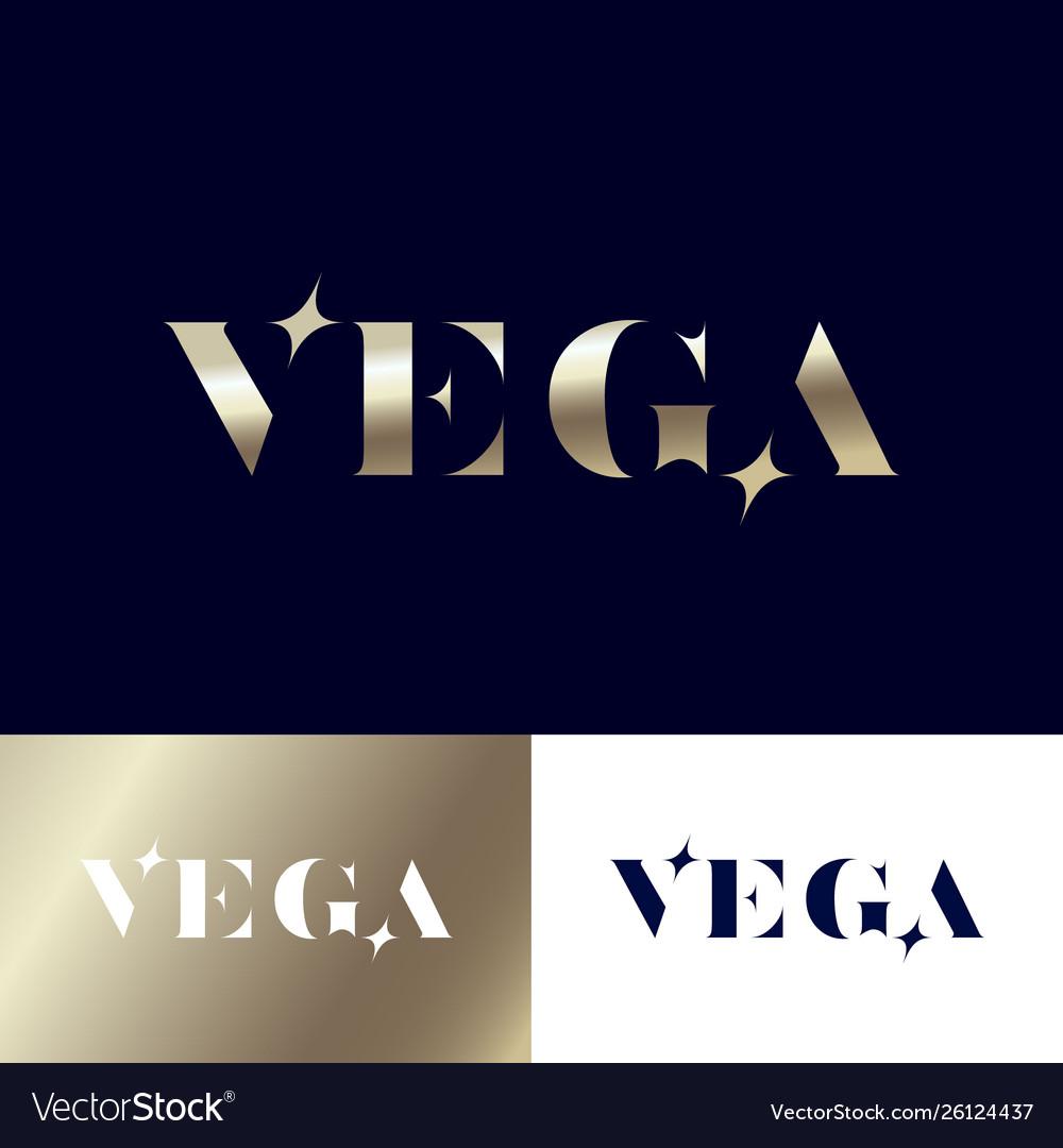Vega logo gold stars jewelry emblem