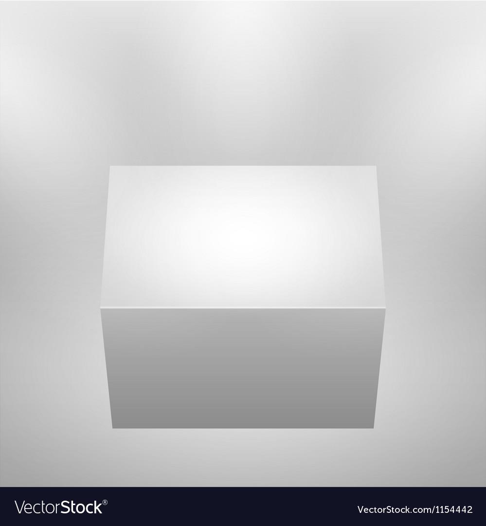 3d isolated empty podium