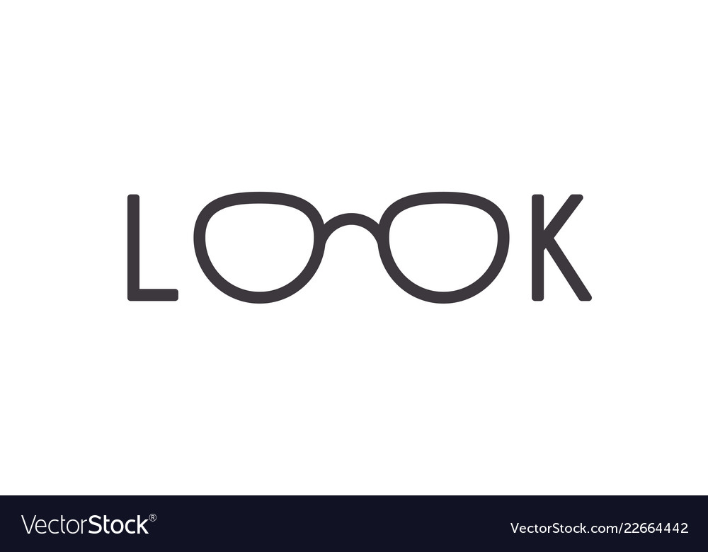 Eyeglasses in look word