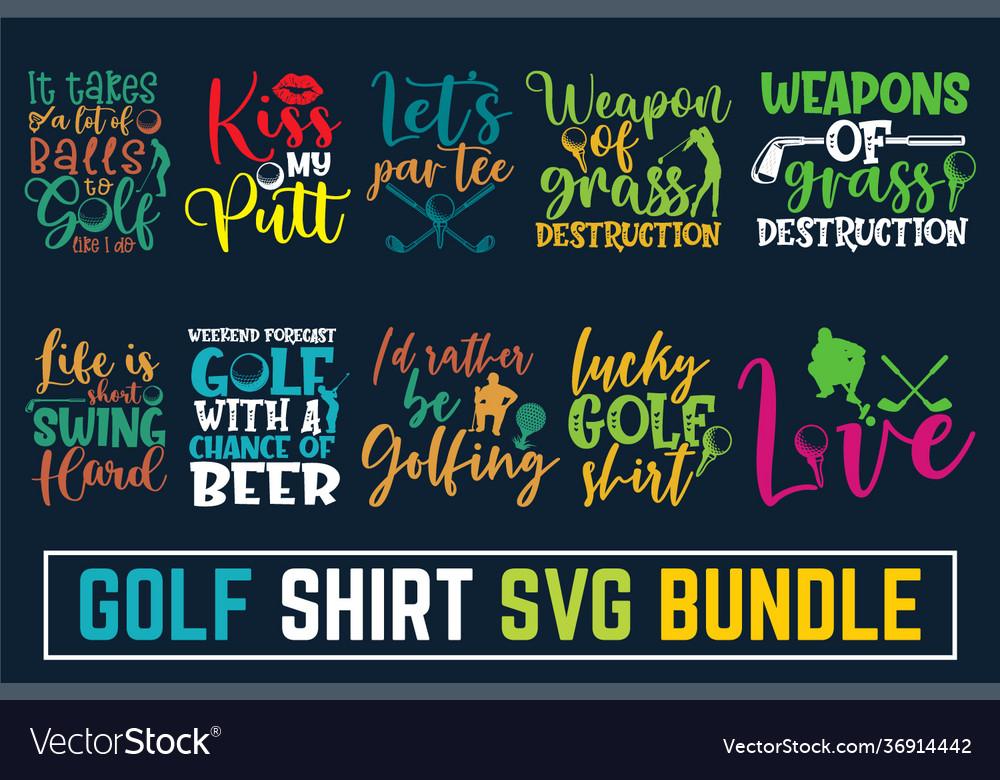 Hand written calligraphy golf svg bundle disc gol