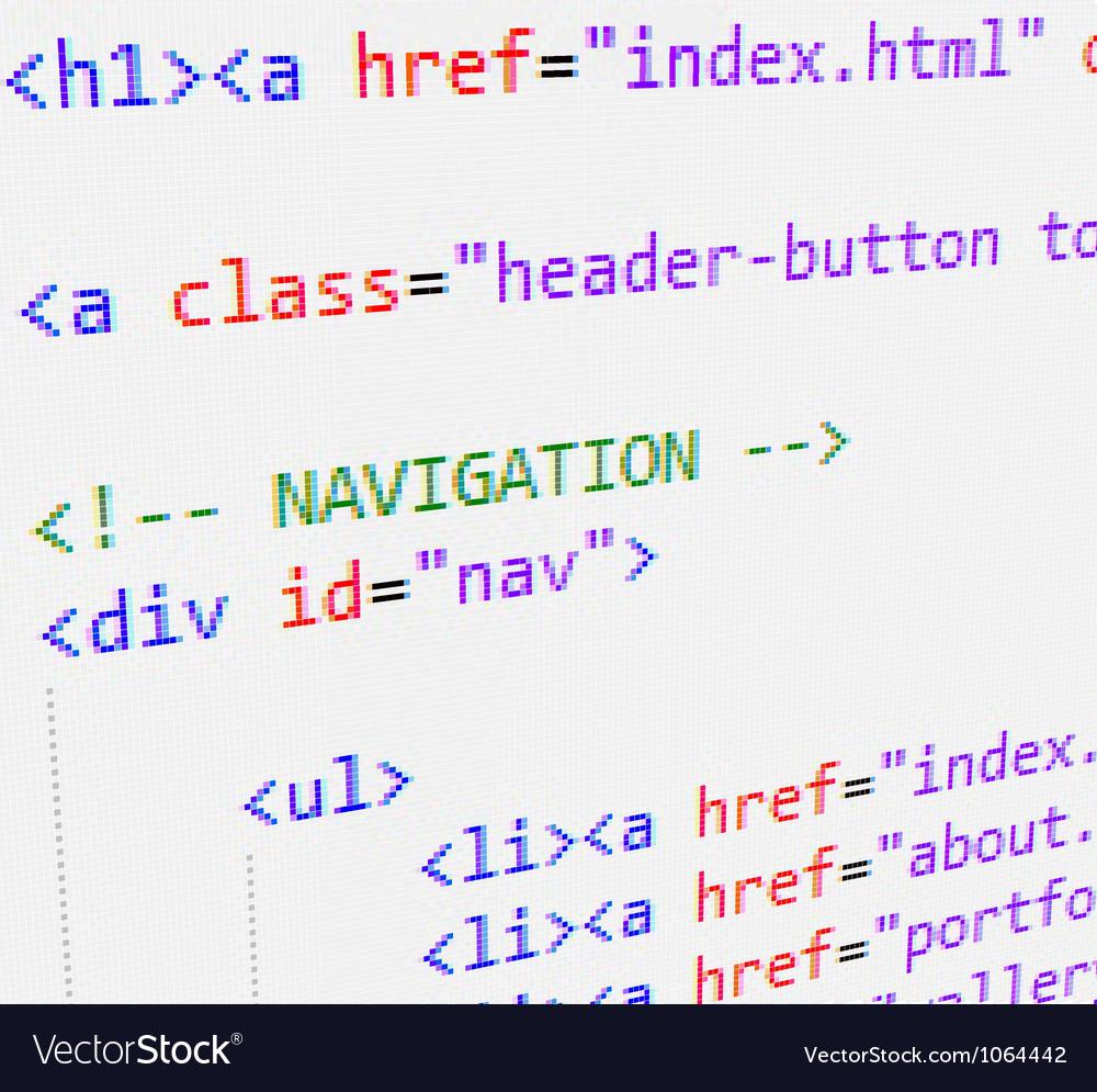 Html code vector image