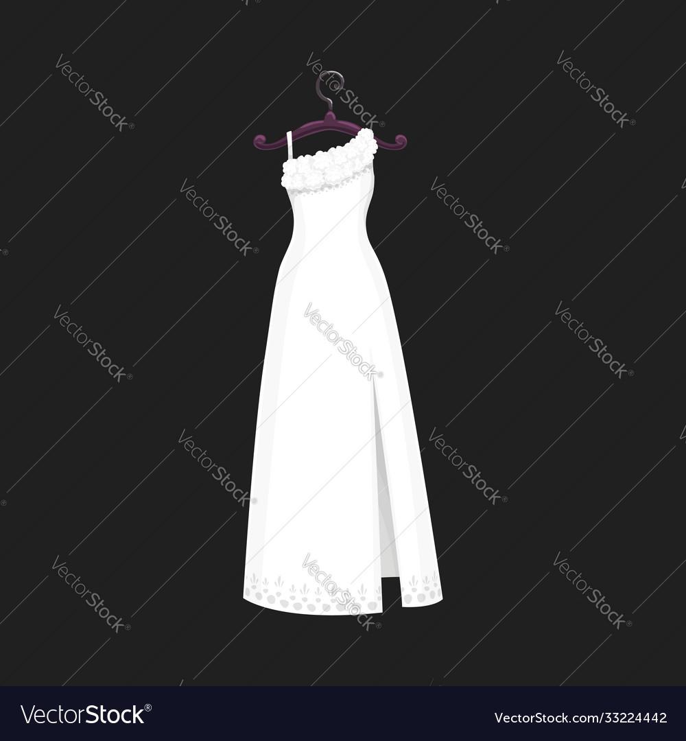 Marriage ceremony wedding dress model