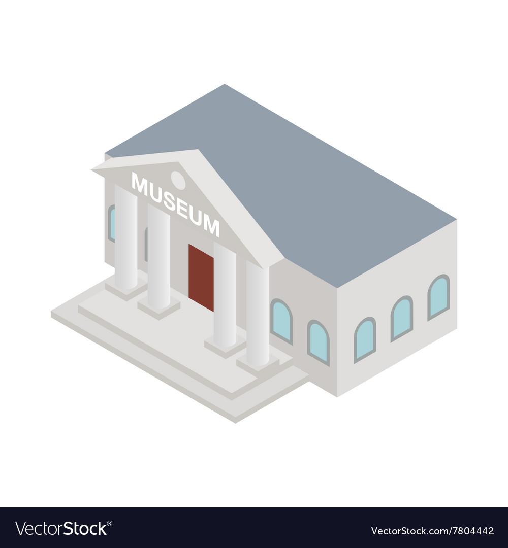 Museum icon isometric 3d style