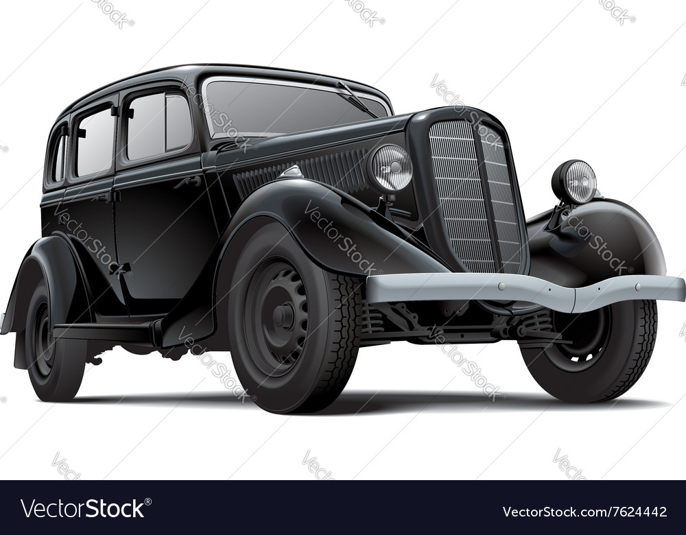Old fashioned Soviet car Royalty Free Vector Image