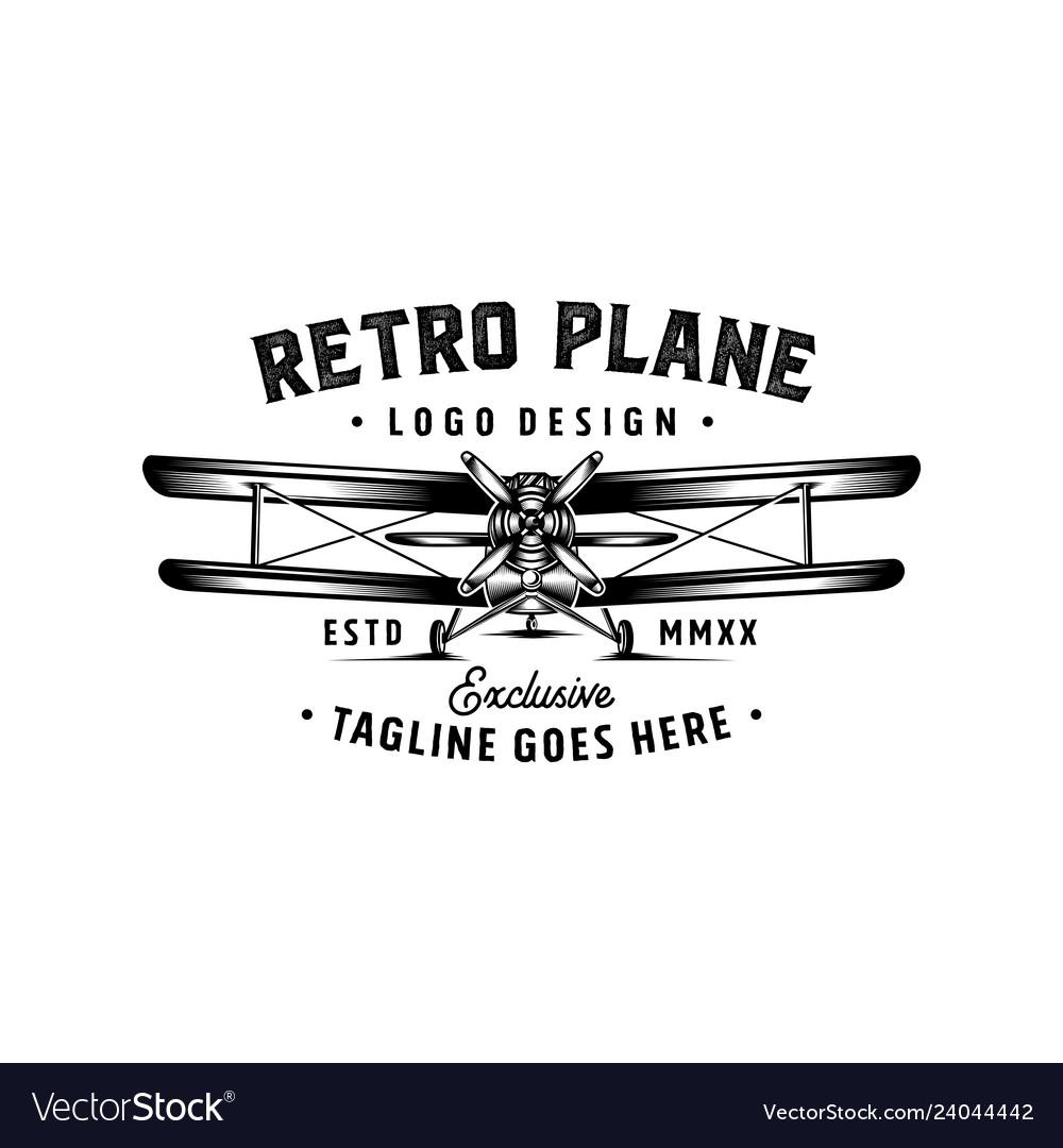 Retro plane logo