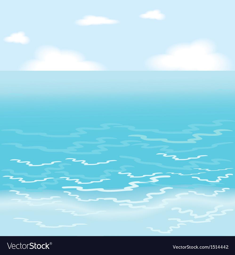 Sea Wallpaper Royalty Free Vector Image Vectorstock