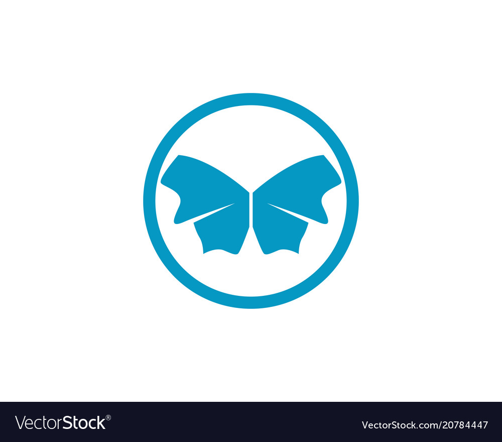 Butterfly conceptual simple colorful icon