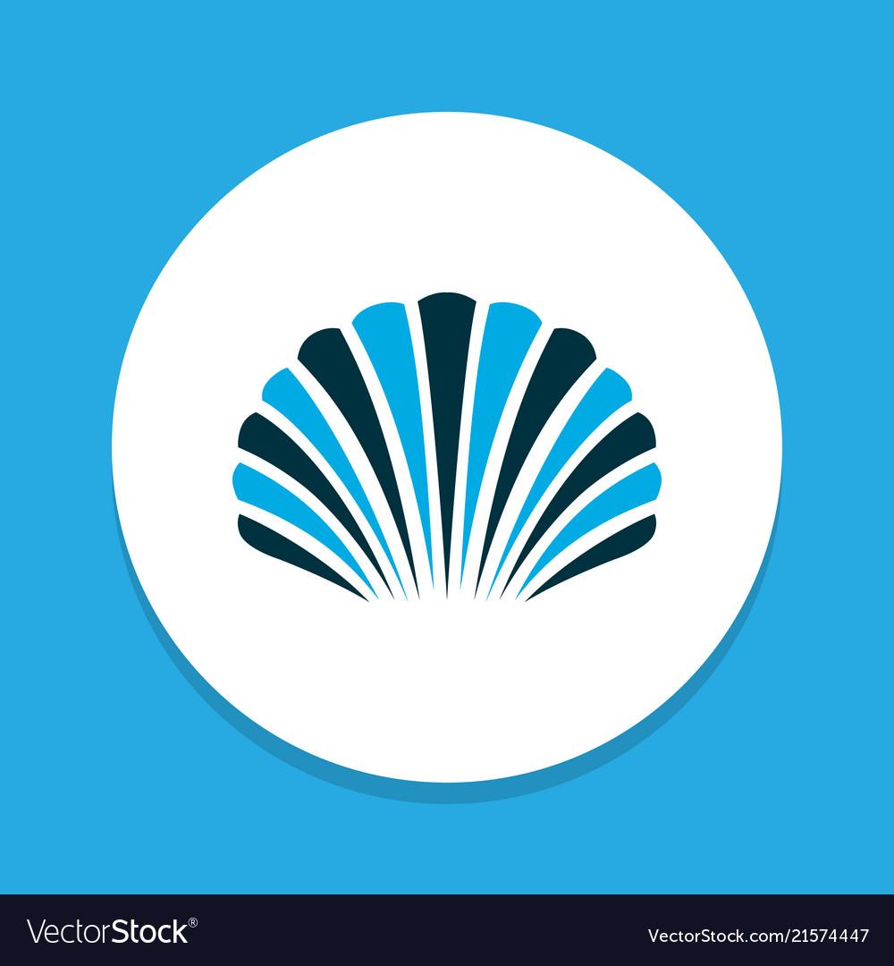 Conch icon colored symbol premium quality