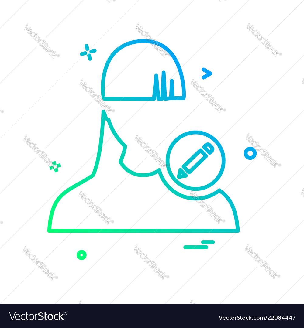 Edit user icon design