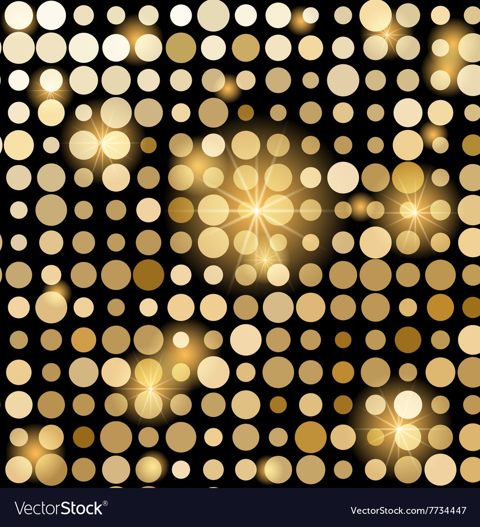 Golden shiny mosaic in disco ball style