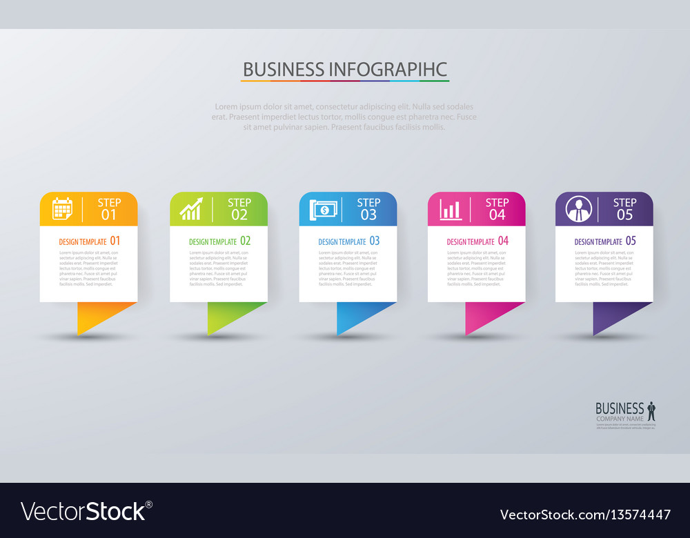 Infographic tab design and marketing template
