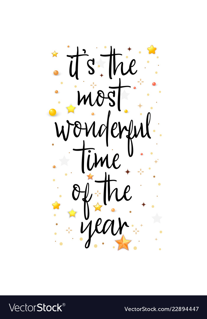 It Is Most Wonderful Time Year Holiday Royalty Free Vector