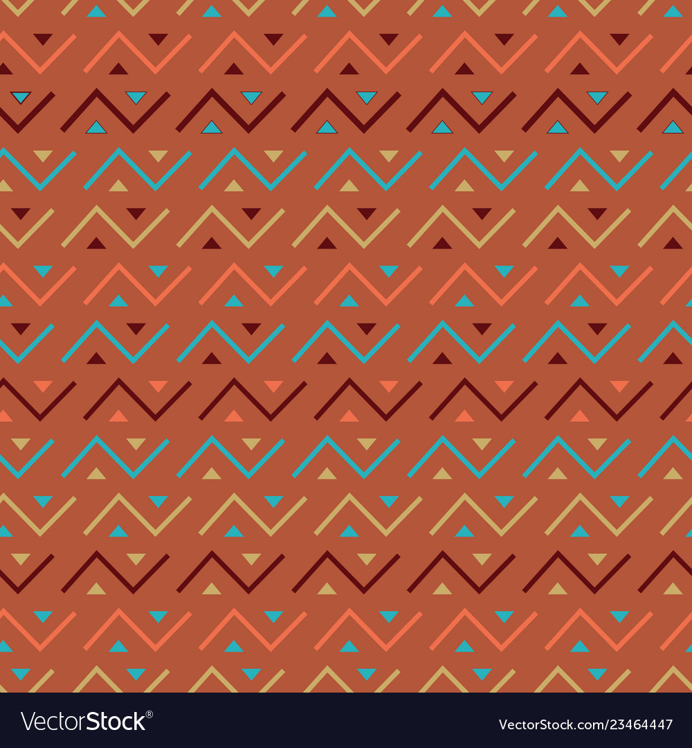 Multicolored seamless tribal pattern background