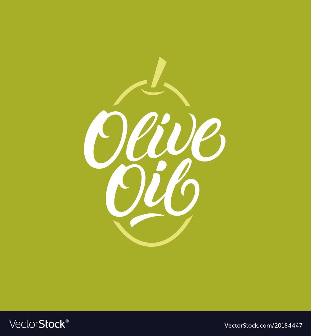 Olive oil hand written lettering logo