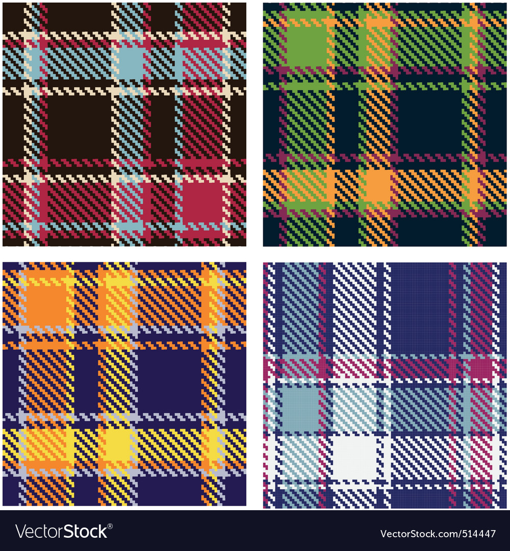 Tartan patterns vector image