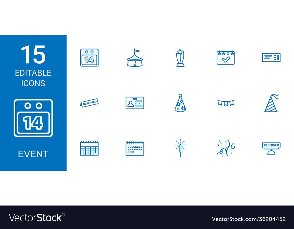 15 event icons