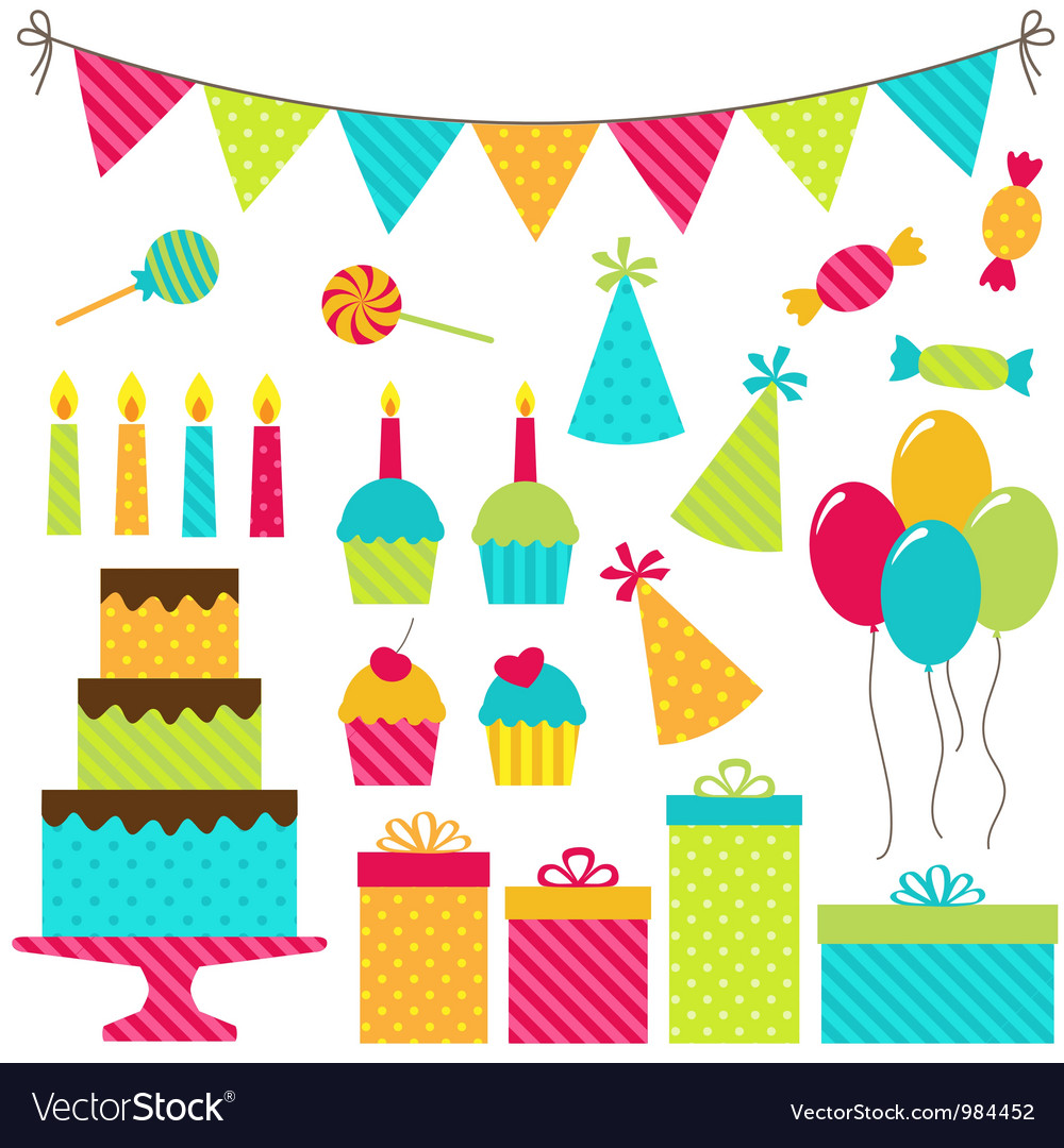 birthday party royalty free vector image vectorstock rh vectorstock com parity vector party vector background