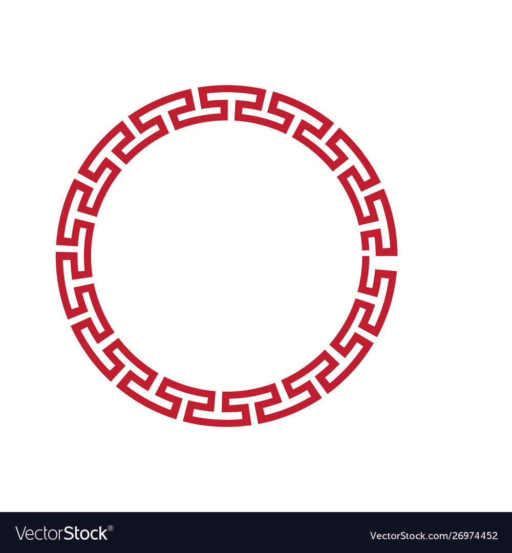 Chinese border vector