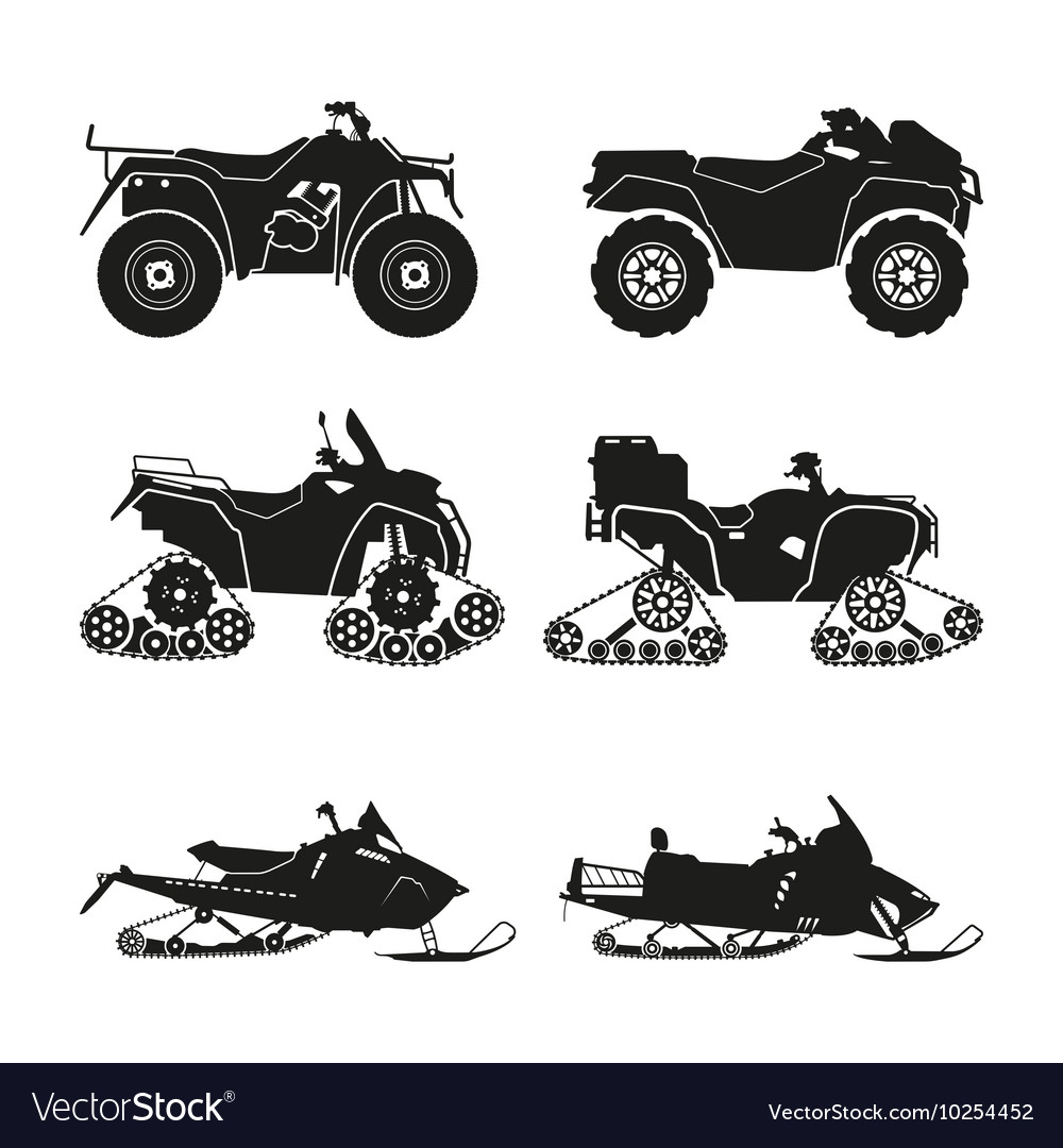 Collection of silhouettes of ATV
